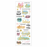 Momenta - Acetate Stickers with Foil Accents - Dream