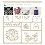 Momenta - Fabric Stencils - 10 x 10 - Butterflies and Flower