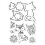 Art-C - Die and Clear Acrylic Stamp Set - Doodle Dreams