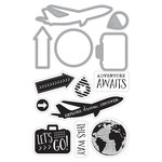 Art-C - Die and Clear Acrylic Stamp Set - Travel