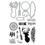 Art-C - Die and Clear Acrylic Stamp Set - Southwestern