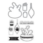 Art-C - Die and Clear Acrylic Stamp Set - Succulents