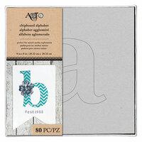 Art-C - Chipboard Alphabet - Lowercase Alphabet and Stencil