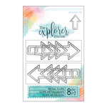 Momenta - The Explorer Journal Collection - Metal Clips - Arrows - Silver