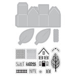 Art-C - Die and Clear Acrylic Stamp Set - Mini Houses