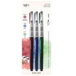 Art-C - Pre-Filled Waterbrushes - Brick Red, Indigo, Green