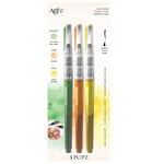 Art-C - Pre-Filled Waterbrushes - Lime Green, Orange, Yellow