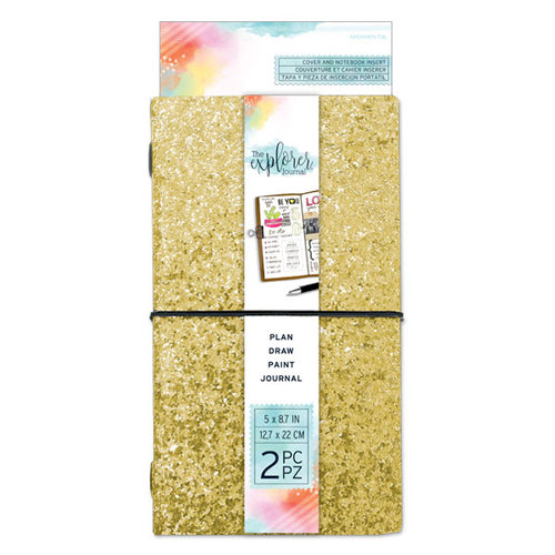 Momenta - The Explorer Journal Collection - Journal - Chunky Glitter - Gold