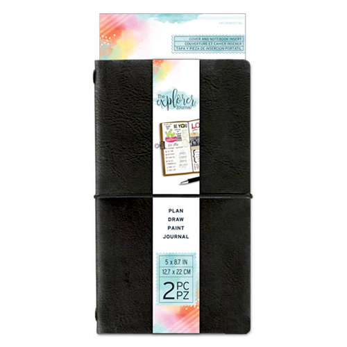 Momenta - The Explorer Journal Collection - Journal - Faux Leather - Black