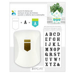 Momenta - Punch and Clear Acrylic Stamp Sets - Banner and Serif Alphabet