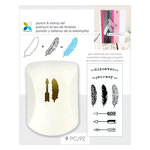 Momenta - Punch and Clear Acrylic Stamp Sets - Feathers