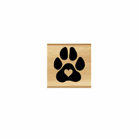 Momenta - Wood Mounted Stamps - Heart Paw