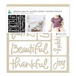 Momenta - Fabric Stencils - 8 x 8 - Script Words