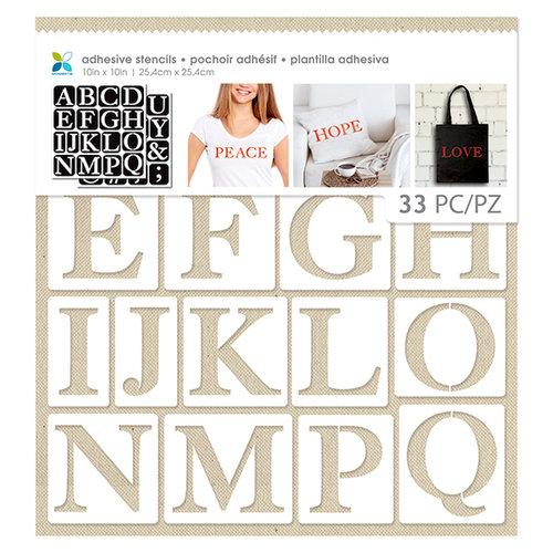 Momenta - 10 x 10 Fabric Stencils - Uppercase Serif