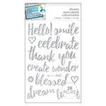 Momenta - Glitter Stickers - Hello Smile - Silver