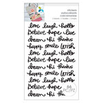 Momenta - Cardstock Stickers - Love Laugh Hello - Black