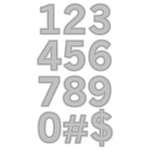 Momenta - Cut and Emboss Template - Numbers