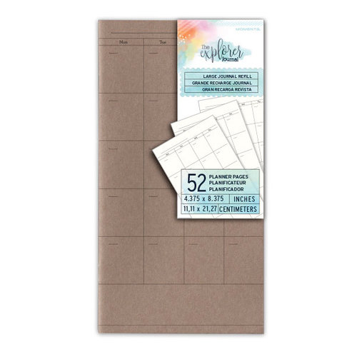 Momenta - The Explorer Journal Collection - Large Journal Refill - Planner Pages - Undated