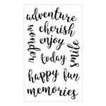 Momenta - Acetate Stickers with Gem Accents - Adventure Cherish Enjoy