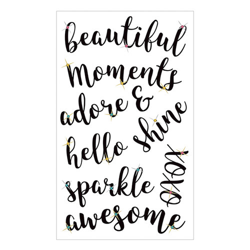 Momenta - Acetate Stickers with Gem Accents - Beautiful Moments Adore