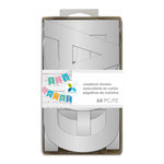 Momenta - Cardstock Stickers - 4 Inches - Alphabet - Sans Serif - Silver Foil