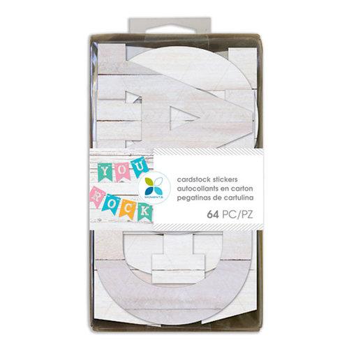 Momenta - Cardstock Stickers - 4 Inches - Alphabet - Sans Serif - Wood Print