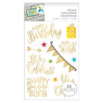 Momenta - Cardstock Stickers - Birthday - Gold Foil