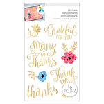 Momenta - Cardstock Stickers - Thanks - Gold Foil