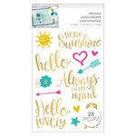 Momenta - Cardstock Stickers - Hello Sunshine - Gold Foil