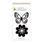 Momenta - Foam Stamps - Butterfly and Flower