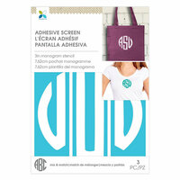 Momenta - Monogram Screen Stencils - Circle U - 3 Inch