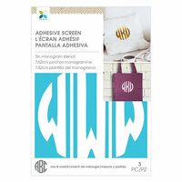 Momenta - Monogram Screen Stencils - Circle W - 3 Inch