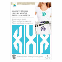 Momenta - Monogram Screen Stencils - Circle X - 3 Inch