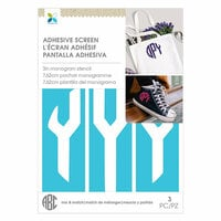 Momenta - Monogram Screen Stencils - Circle Y - 3 Inch