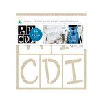 Momenta - Fabric Stencils - 8 x 8 - Fun Font Alphabet - 3 Inches