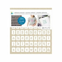 Momenta - Fabric Stencils - 8 x 8 - Fun Font and Numbers - 12 Inch