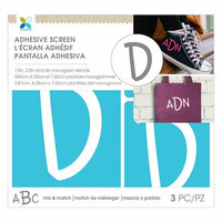 Momenta - Monogram Screen Stencils - Traditional - D