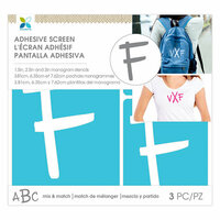 Momenta - Monogram Screen Stencils - Traditional - F