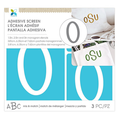 Momenta - Monogram Screen Stencils - Traditional - O
