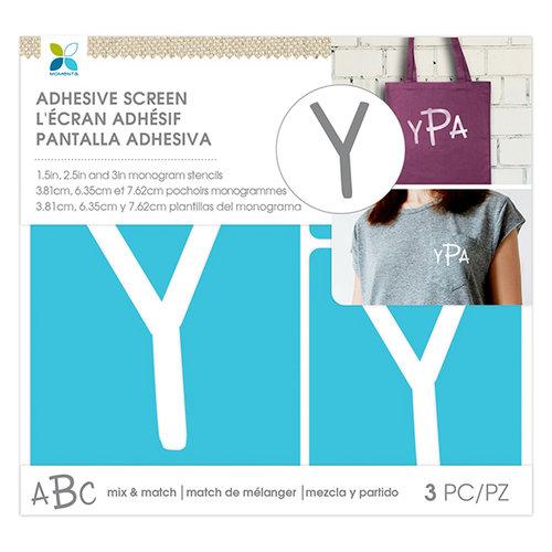 Momenta - Monogram Screen Stencils - Traditional - Y