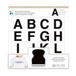 Momenta - Foam Stamps - Sans Serif Alphabet