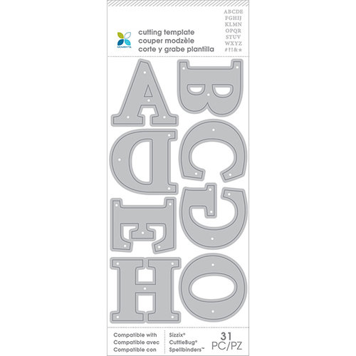 Momenta - Metal Die - Alphabet Uppercase Serif