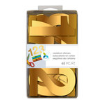 Momenta - Cardstock Stickers - 4 Inches - Numbers - Gold Foil