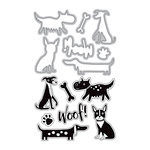 Art-C - Die and Clear Acrylic Stamp Set - Dogs