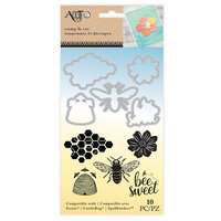 Art-C - Die and Clear Acrylic Stamp Set - Bee Sweet