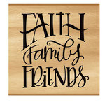 Momenta - Wood Mounted Stamps - Faith Family Friend