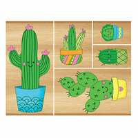 Momenta - Wood Mounted Stamps - Cacti
