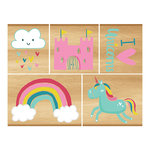 Momenta - Wood Mounted Stamps - Unicorns