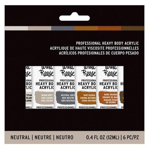 Brea Reese - Heavy Body Acrylic Paint - Neutrals - 6 Pack