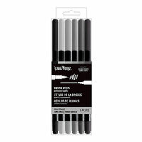 Brea Reese - Brush Pens - Grayscale - 6 Pack